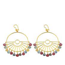 Rarities Sapphire Wagon-Wheel-Design Chandelier Earrings