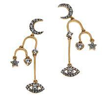 Rarities White Zircon Talisman Drop Earrings