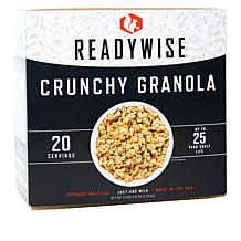 ReadyWise Emergency Food 20 Servings Crunchy Granola