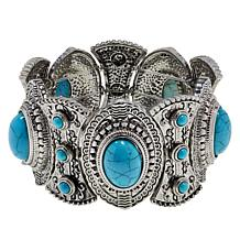 """R.J. Graziano """"Best West"""" Simulated Turquoise Stretch Bracelet"""