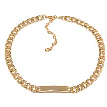 """R.J. Graziano """"Hit List"""" Goldtone Curb-Link ID Necklace"""