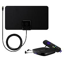 Roku Ultra 4K UHD Media Streamer with Antop AT-108 30-Mile TV Antenna