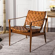 Safavieh Couture Dilan Leather Safari Chair