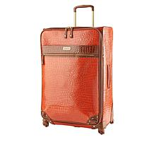 "Samantha Brown 30"" Spinner Croco Embossed Suitcase"