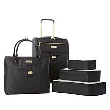 9bf685d78 Samantha Brown 5pc Luggage Set with Spinner, Tote and Packing Cubes