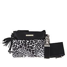 Samantha Brown To-Go Printed Tassel Zip Small Crossbody Bag