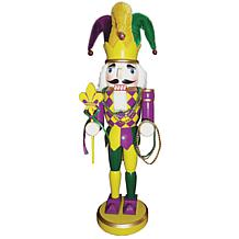 "Santa's Workshop 14.5"" Mardi Gras King Nutcracker"