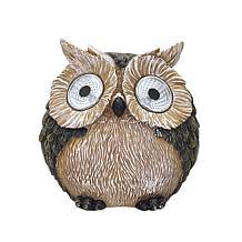 "Santa's Workshop 4"" Resin Solar Yard Owl"