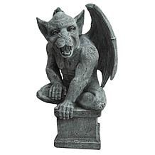 Santa's Workshop Resin Yard Gargoyle in Grey