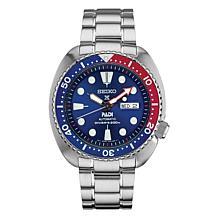 Seiko Men's Prospex Stainless Steel Blue Bezel Automatic Diver Watch