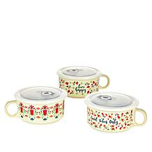 Set of 3 Souper Mugs with Lids