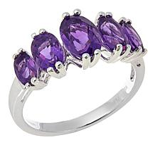 Sevilla Silver™ 2.06ctw Amethyst 5-Stone Band Ring
