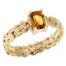 Sevilla Silver™ Gold-Plated Gemstone Byzantine Ring