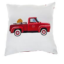 "Sewing Down South Red Truck 20"" x 20"" Throw Pillow"