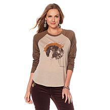 Sheryl Crow Printed Raglan T-Shirt
