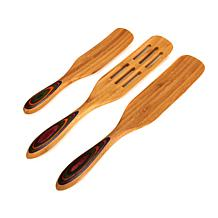 Simply Ming Bamboo Spurtle 3-piece Gourmet Utensil Set