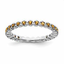 Simply Stacks™ Sterling Silver Gemstone Eternity Stack Ring