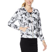 Skinnygirl French Terry Zip-Front Hoodie Jacket
