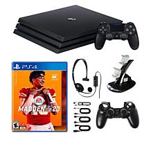 "Sony PlayStation 4 Pro 1TB Console Bundle w/""Madden 20"" & Accessories"