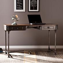 Southern Enterprises Gunnar 2-Drawer Wood & Metal Desk