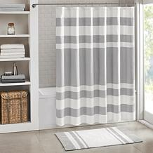 Spa Waffle Shower Curtain with 3M Treatment - Gray/72""