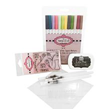 Stamps of Life Watercolor Markers & Stamps Try Me Kit