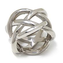 Stately Steel Stainless Steel Open Wrap Ring