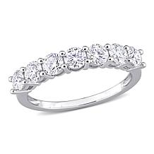 Sterling Silver 1.05ctw Moissanite Anniversary Ring
