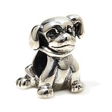 Sterling Silver Sitting Dog Slide Charm