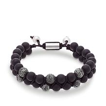 Steve Madden Onyx Bead Adjustable Bracelet