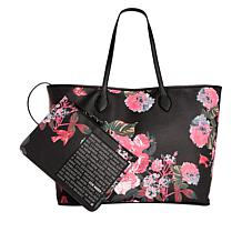 Steven by Steve Madden Luna Floral  Tote with Detachable Pouch