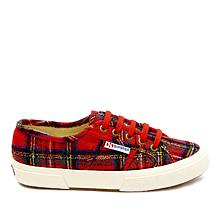 Superga Plaid Velvet Lace-Up Sneaker