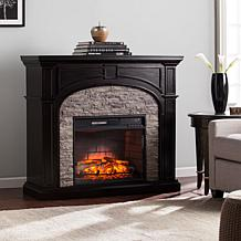 Tanaya Infrared Electric Fireplace-Ebony