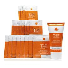 TanTowel® Plus 20-piece Kit with Body Glow Self-Tanning Cream