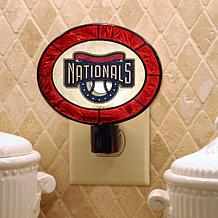 Team Glass Nightlight - Washington Nationals