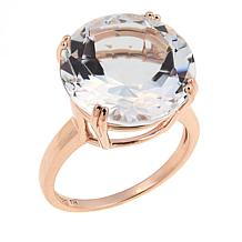 Technibond® 11ct Clear Quartz Solitaire Ring - Rose