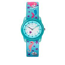 Timex Kid's Analog 28mm Mermaid Teal Strap Watch