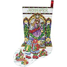 Tobin Stained Glass Stocking Counted Cross Stitch Kit