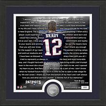 Tom Brady New England Patriots Farewell Minted Coin Photo Mint