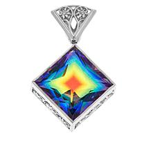 Traveler's Journey 12.52ct Rainbow Quartz Pendant