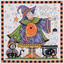 Trick Or Treat Cross-Stitch Kit