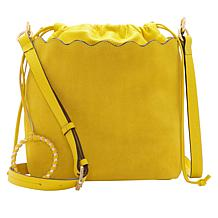 Vince Camuto Wavy Leather Bucket Crossbody