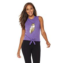 Warrior by Danica Patrick Feather Tie-Front Tank
