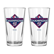 Washington Nationals 2019 World Series 17oz Mixing Glass 2-pack