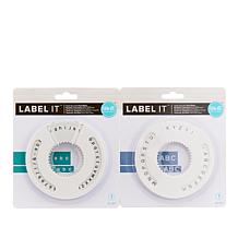 We R Memory Keepers Label It Sans Serif Font Wheels