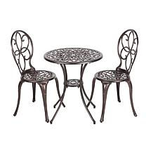 Well Traveled Living Cast Aluminum 3-piece Bistro Set