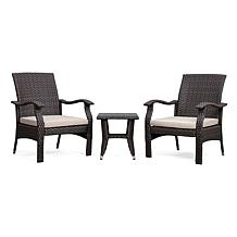Well Traveled Living Miles Conversation Table and Charis Set