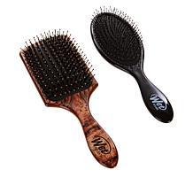 Wet Brush Argan Oil Paddle Brush & Detangler - Traditional Wood Look