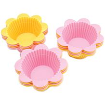 Wilton 12 Silicone Baking Cups - Flower