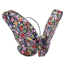 Wind and Weather Solar Metal & Acrylic Jewel Butterfly